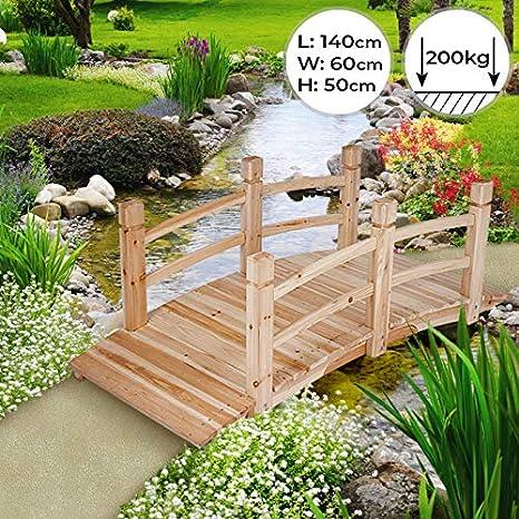 Pont De Jardin En Bois 140x60x53cm Style Japonais