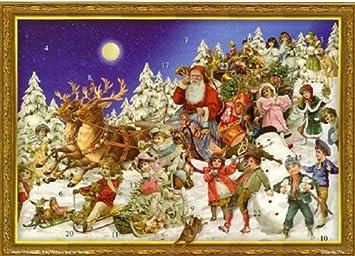 Calendrier De Lavent Allemand.Pinnacle Victorien Sleighing Santa Allemand Calendrier De L