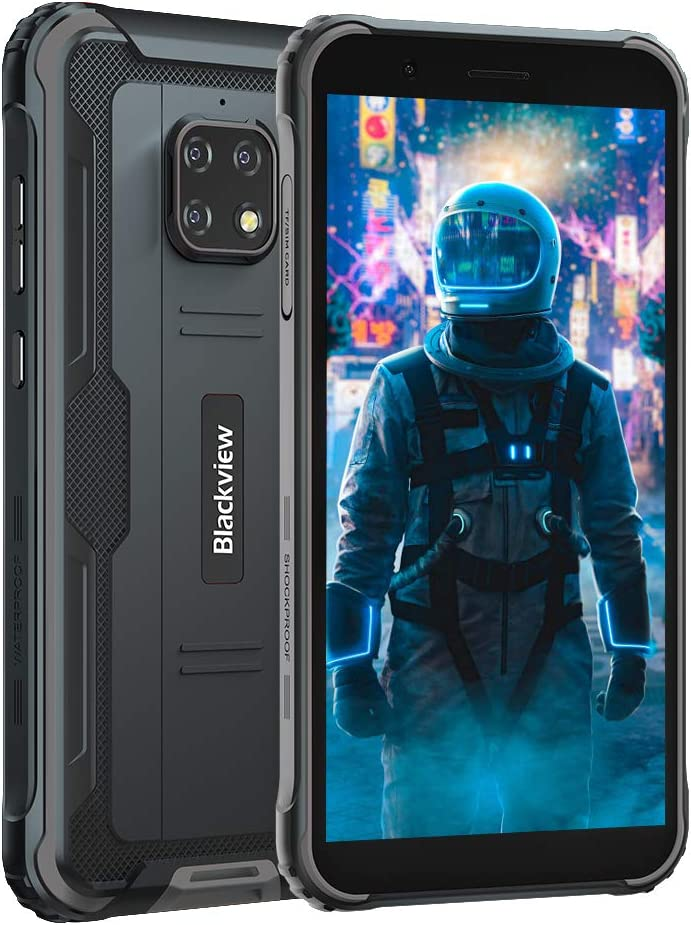 Rugged smartphone, blackview bv4900 smartphone antiurto 4g android 10 rugged cellulare, 5.7 pollici hd, a+++