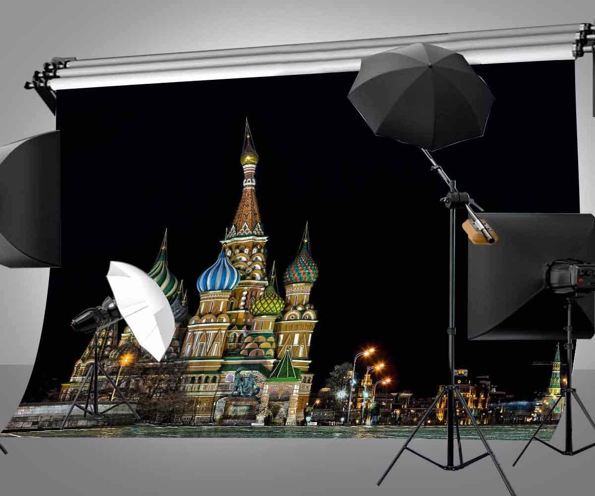CdHBH 10X7ft Polyester Photography Background Famous Russian Kremlin Backdrop for Studio Props LYGE655