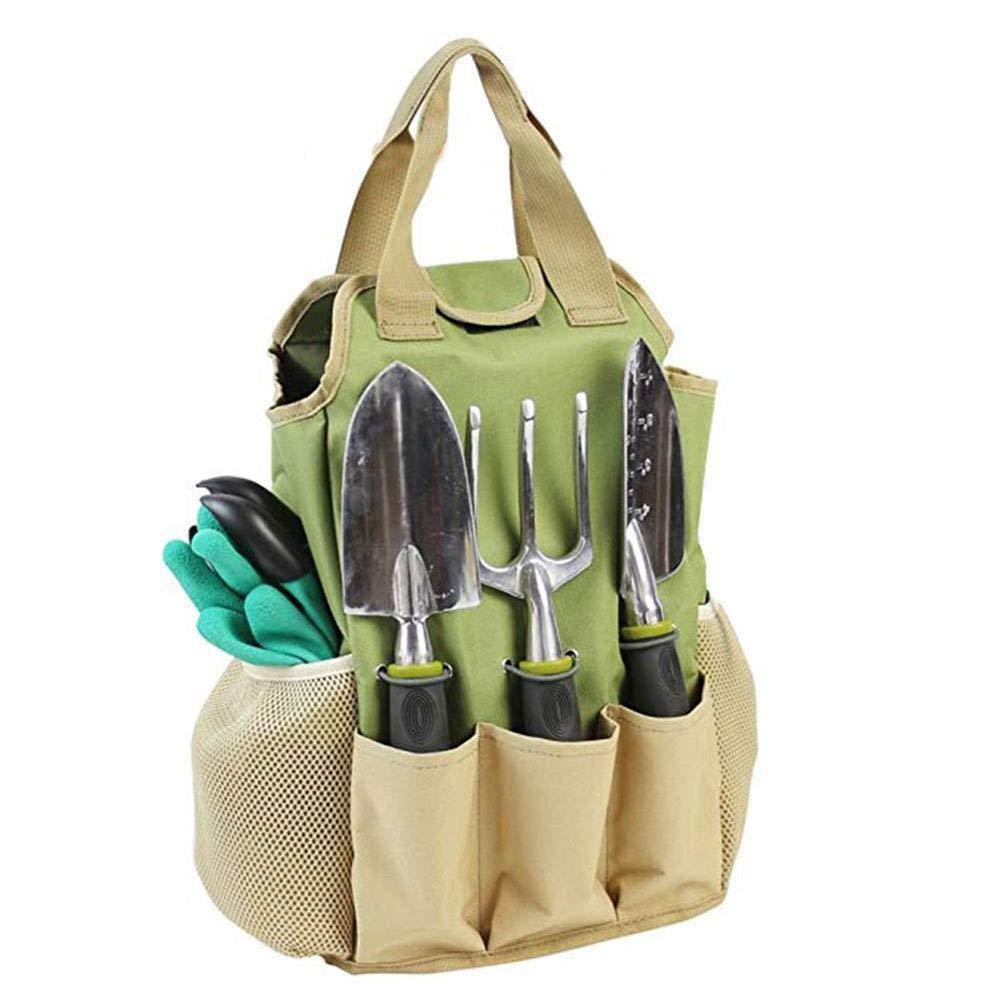 Outils de Jardin Fourre-tout Porte-outils de Jardinage Sacs de Rangement Organisateur Sac /à Main avec 7 Poches pour Int/érieur Ext/érieur Maison Pelouse Jardin Plant Tool