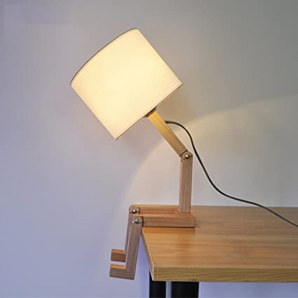 Wshfor lámpara de Mesa Moda Creativa,Lámpara Estante para ...