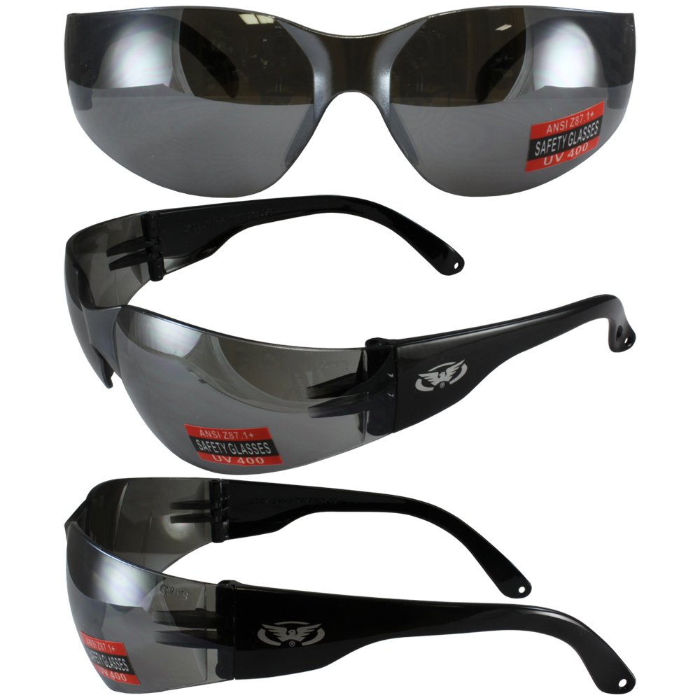 Global Vision Rider gafas de seguridad w/flash lentes espejo ...