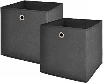 Caja Plegable, caja de almacenaje, caja, Gris, 32/32/32 cm: Amazon ...