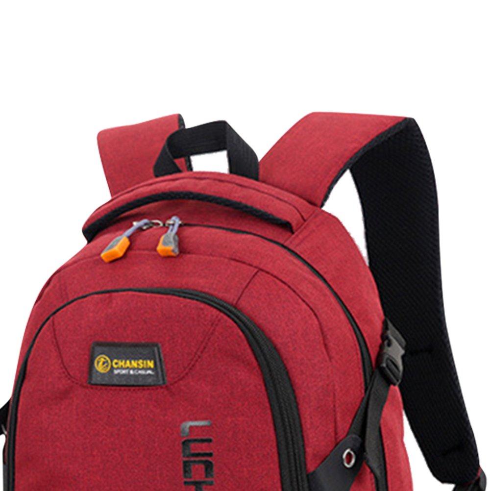 Zhrui Mochila Unisex Laptop Bag 14 Pulgadas Schoolbag Travel Impermeable School Travel Schoolbag Ocio de Negocios (Color : Rojo, tamaño : Un tamaño) 0dacde