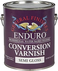 General Finishes Enduro Conversion Varnish, 1 Gallon, Semi-Gloss
