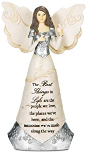 Pavilion Gift Company Elements 82328 Angel Figurine Holding Butterflies, Best Things In Life, 8-Inch
