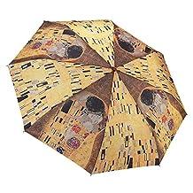 "Galleria Gustav Klimt ""The Kiss"" Folding Umbrella"