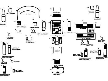 Rdash Dash Kit Decal Trim for Infiniti QX56 2004-2007 - Wood Grain on