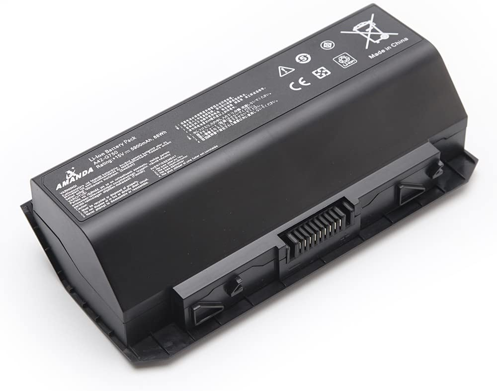 Amanda A42-G750 Battery Replacement for Asus G750 G750J G750JH G750JM G750JS G750JW G750JX G750JZ ROG Series 0B110-00200000M 15V/5900mAh/88WH