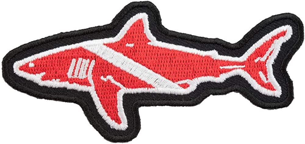Great White Shark Diver Down Patch, Scuba Diving Flag Patches
