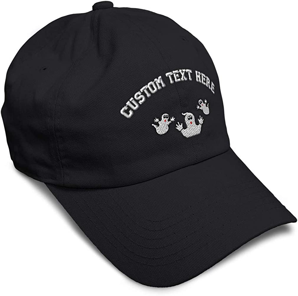 Custom Soft Baseball Cap Ghost Topper Embroidery Dad Hats for Men /& Women