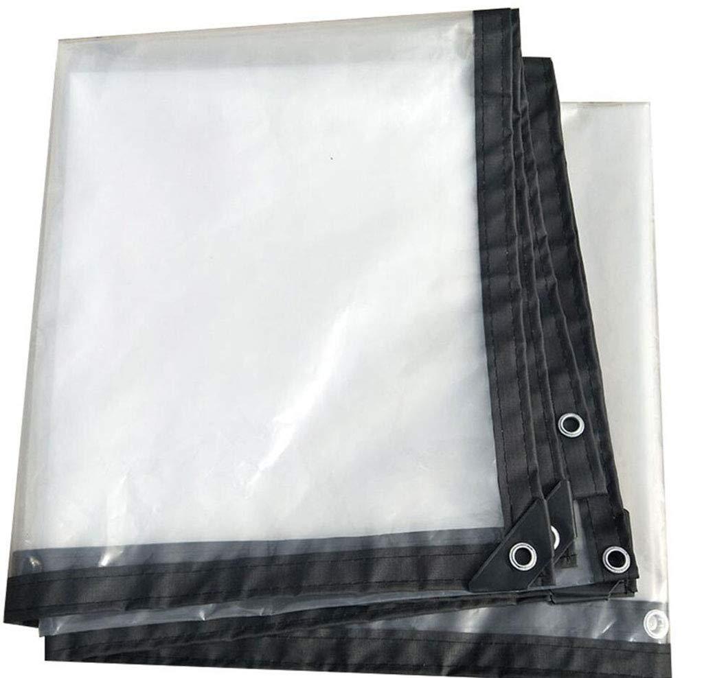 MYYDD Antipioggia Panno, Telo Trasparente Spessa All'aperto Impermeabile Luce Parasole Lacrima Resistente Taglio Serra Film Isolante, Una varietà di Formati,4X6m