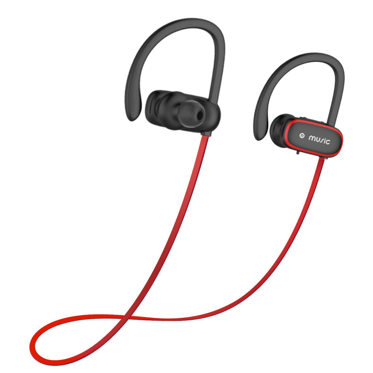 Blutooth Headphones, Benefast 4.2 EDR Wireless Headset in-Ear Eearbuds Microphone, Sweatproof, CVC Noise Cancelling, HiFi Stereo Eearphones Sports, Running, Gym Workout (Red) 103019CA