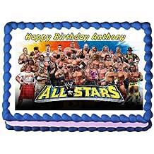 WWE Allstars Edible Frosting Sheet Cake Topper - 1/4 Sheet