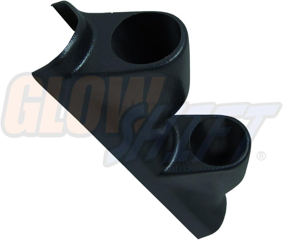 52mm Mounts ABS Plastic GlowShift Black Dual Pillar Gauge Pod for 2004-2009 Mazda 3 Gauges to Vehicles A-Pillar 2-1//16 2