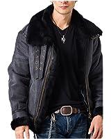 (リューグーレザーズ) Liugoo Leathers ムートンジャケット B-3フライトジャケット