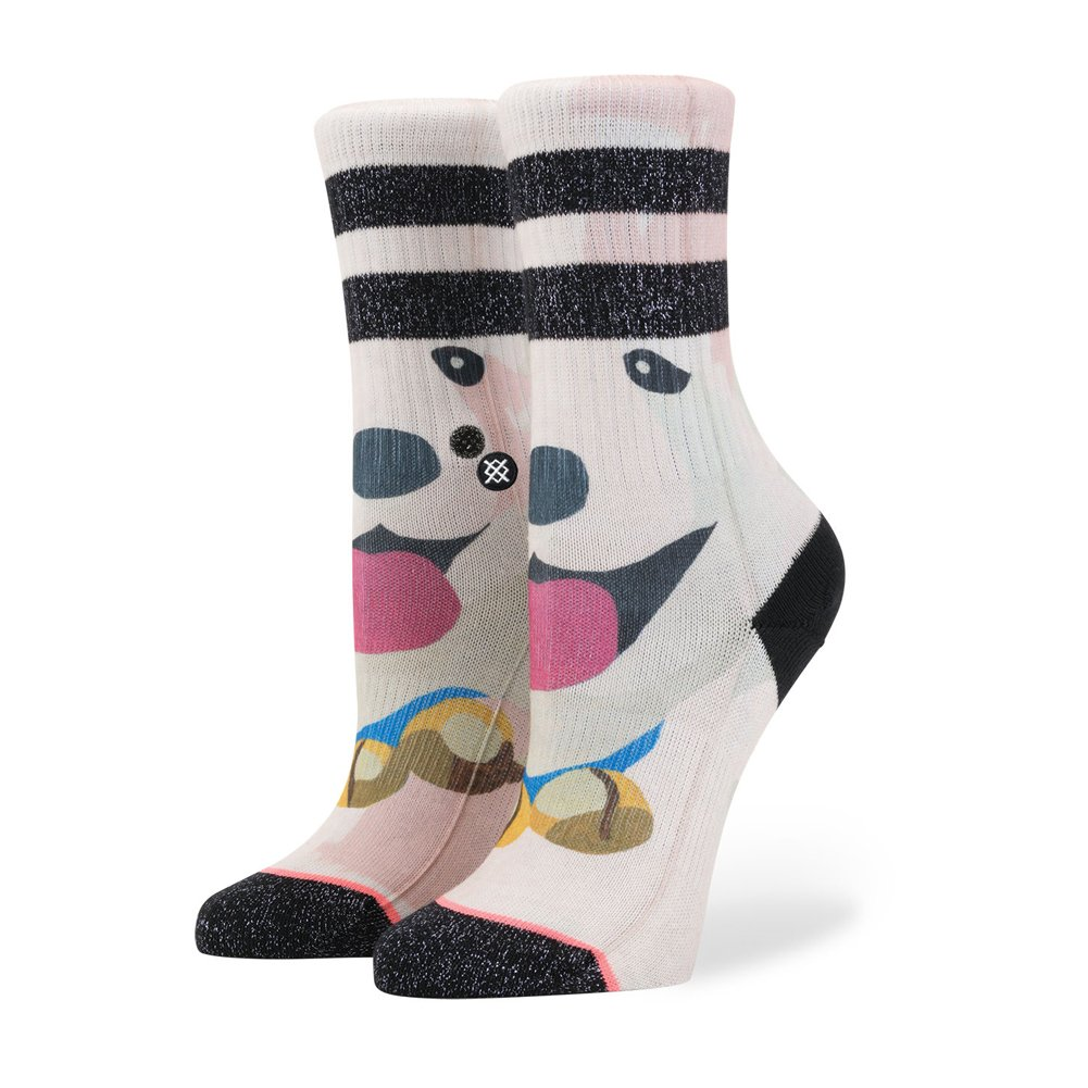 Stance Girls' Puppies Crew Socks Black Large G526D17PUP
