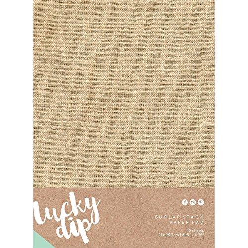 Lucky Dip Burlap Stack Paper Pad 8.25