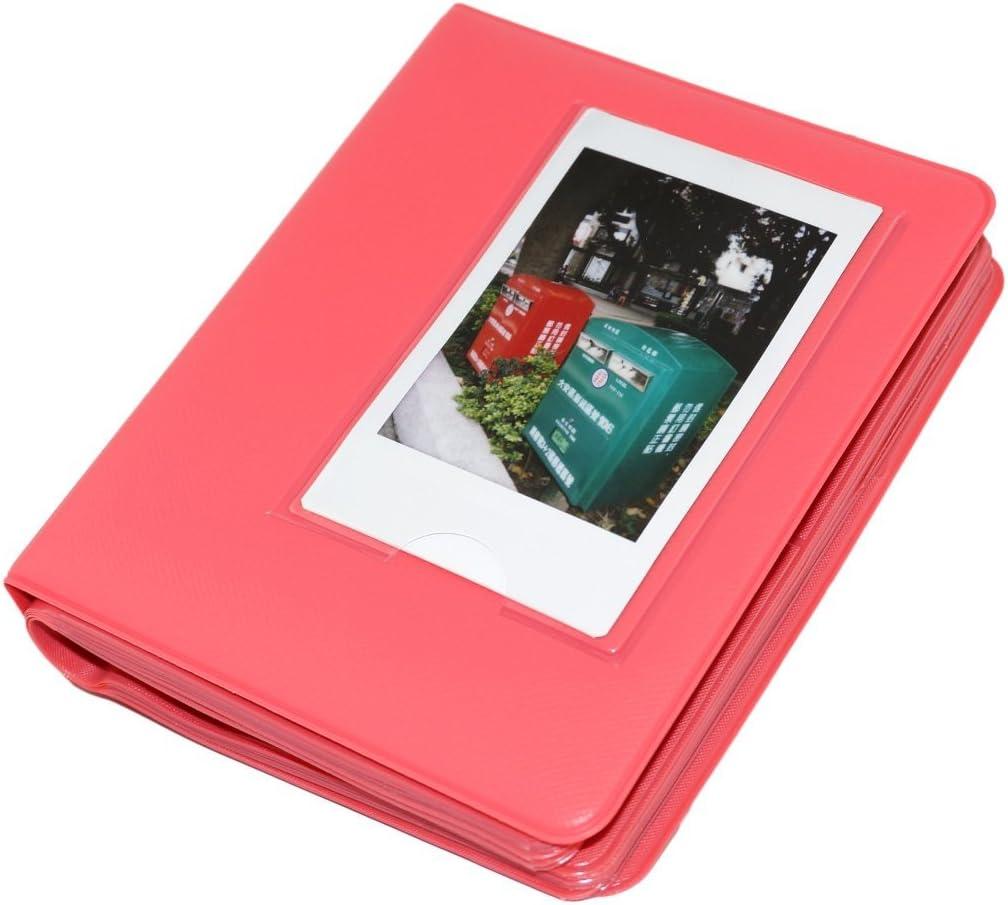 Macaron Colorful Frame Mini Polaroid Films Book Photo Album for Fujifilm Fuji Instax Instant Mini 7s / 8/9 / 25/50 / 90/70 Rose Pink