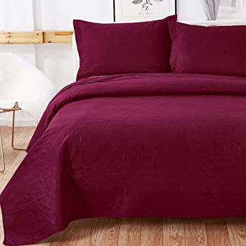 3-Piece Oliven Lightweight Bedspreads Coverlet Set