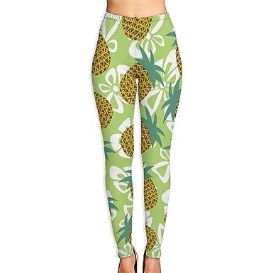 ff9b592bfa3db WSPTBRA Bow Pineapple Printed High Waist Yoga Capris Pants Full-Length Yoga  Workout Leggings Pants