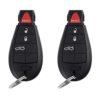 BESTHA 2 New Replacement 4 Button Keyless Entry Remote Key Fob Transmitter for M3N5WY783X Chrysler 300/Dodge Charger Challenger Magnum With Ignition key IYZ-C01C: Automotive