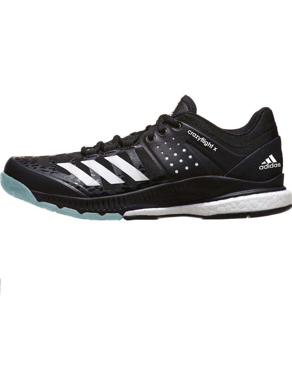 adidas Women's Crazyflight X Volleyball Shoe Black/White/Light Solid Grey,11 M US