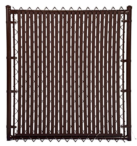 Brown Double Wall Bottom Lock Fence Slat For 6ft Chain