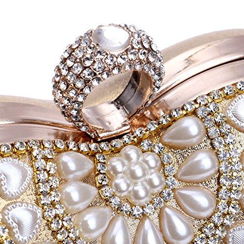 Flada - Cartera de mano para mujer dorado dorado mediano negro claro