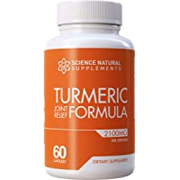 Science Natural Supplements: Turmeric Joint Relief Supplement with Glucosamine Chondroitin...