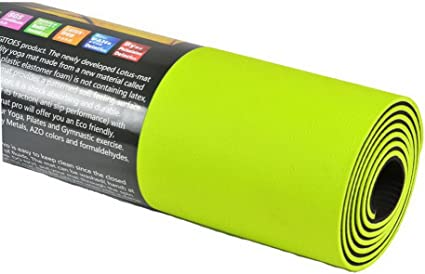 Amazon Com Panda Superstore Yoga Mat 6mm Tpe Exercise Mat With Mesh Bag Neon Green Sports Outdoors