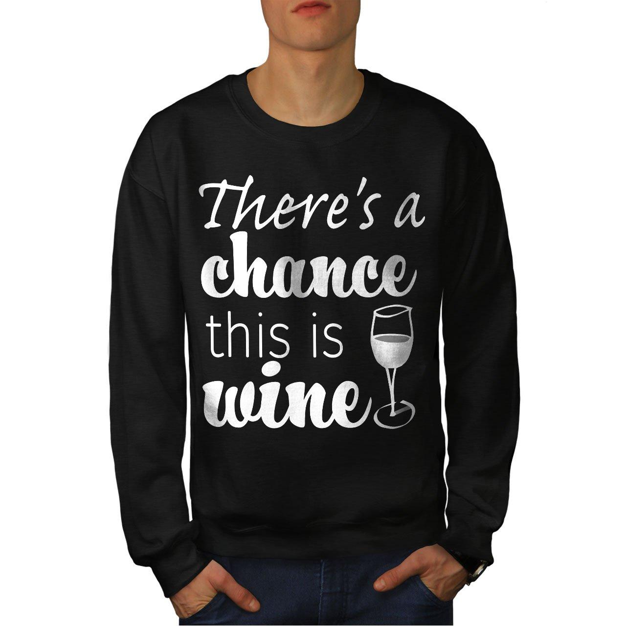 wellcoda Chance This is Wine Mens Sweatshirt Funny Casual Jumper