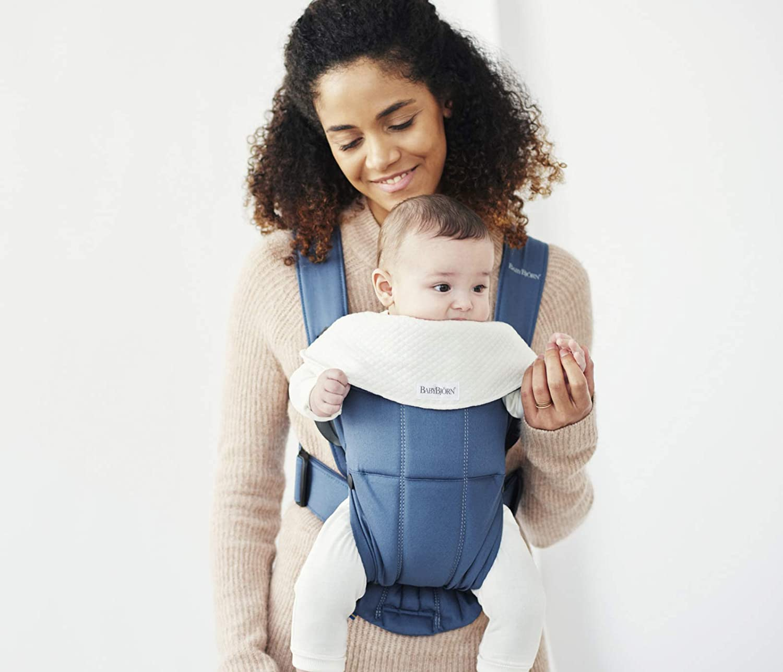 BABYBJÖRN Babero para Mochila Porta Bebé Mini, Blanco, 2 uni.: Amazon.es: Bebé