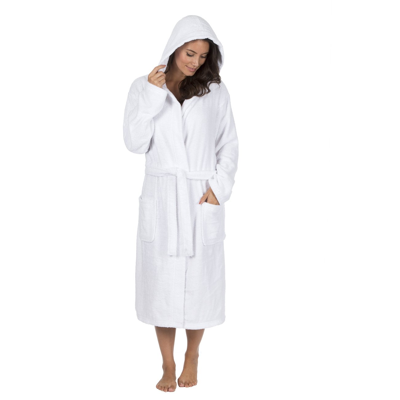 Forever Dreaming Ladies Womens Super Soft Star Hooded Robe Dressing Gown