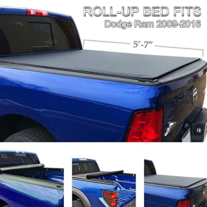 Truck Bed Accessories Roll Up Tonneau Cover For 2009 2018 Dodge