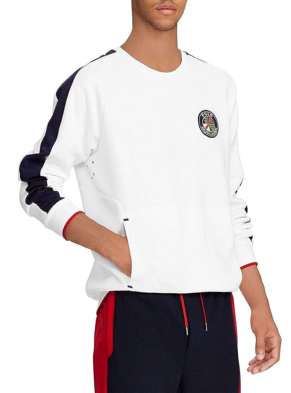 Polo Ralph Lauren Sudadera Escudo Blanco Hombre XL Blanco: Amazon ...