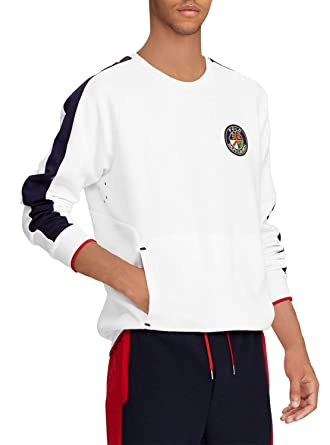 Polo Ralph Lauren Sudadera Escudo Blanco Hombre XL Blanco: Amazon ...