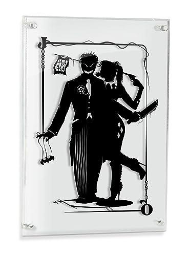 Harley Quinn and Joker – hand cut paper art