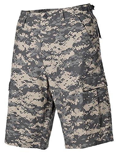 MFH tipo de BDU pantalón corto para del cartel en inglés de diseño vintage del ejército, RIP-STOP de algodón ACU-CAMO