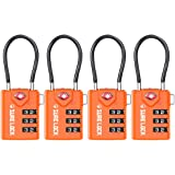 TSA Compatible Travel Luggage Locks, Inspection Indicator, Easy Read Dials TSA Approved with Zinc Alloy
