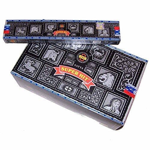 Satya Sai Baba Super Hit Nag Champa Incense Sticks 180 Gram Box (180g)