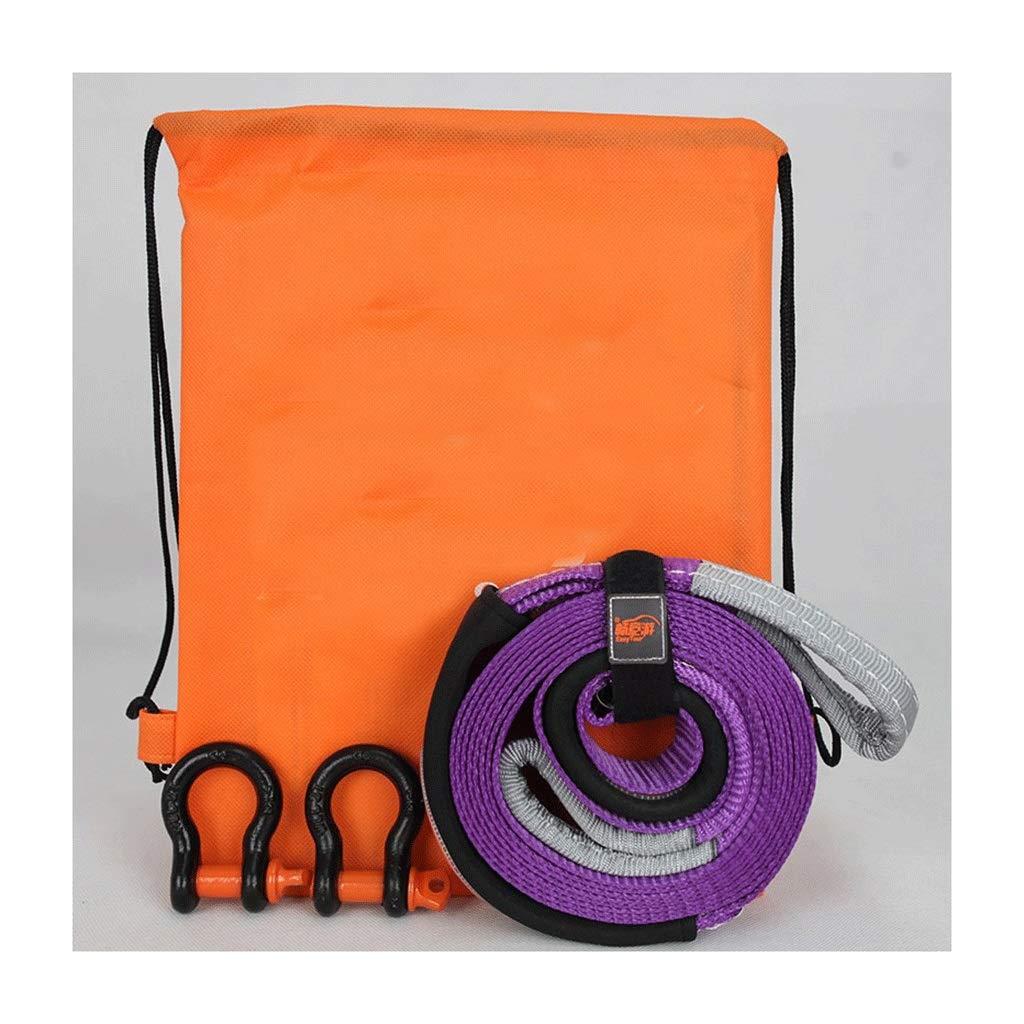 8t 12t Size : Orange+silver hook 5t Camion Agricole Corde De Traction Extra Longue Remorque Puissante Hors Route Avec Corde De Sauvetage Corde De Remorquage