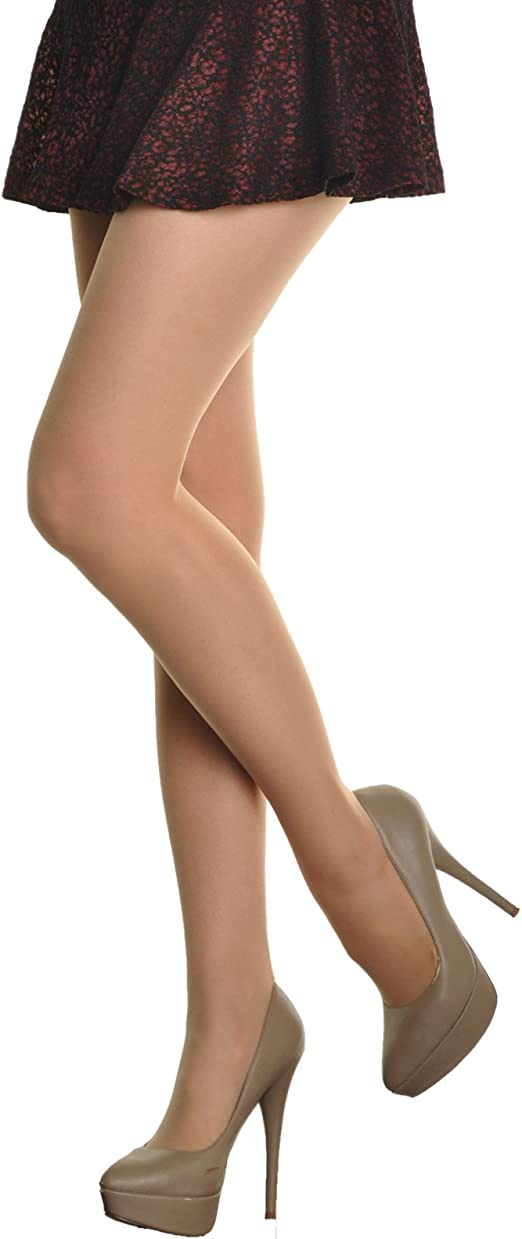 6Pack ANGELINA Silk Reflections Nylon//Spandex Pantyhose Tights BLK BEIGE D//BEIGE