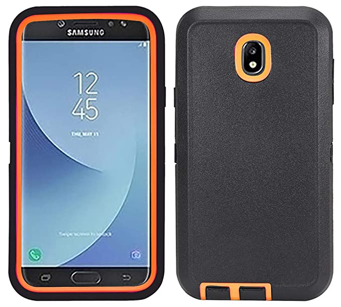 pretty nice 0bae5 694ae Case for Samsung Galaxy J7 2018, Hybrid Shockproof Protective Phone Cover  with Kickstand and Built-in Screen Protector for Samsung J7 2018/ Galaxy J7  ...
