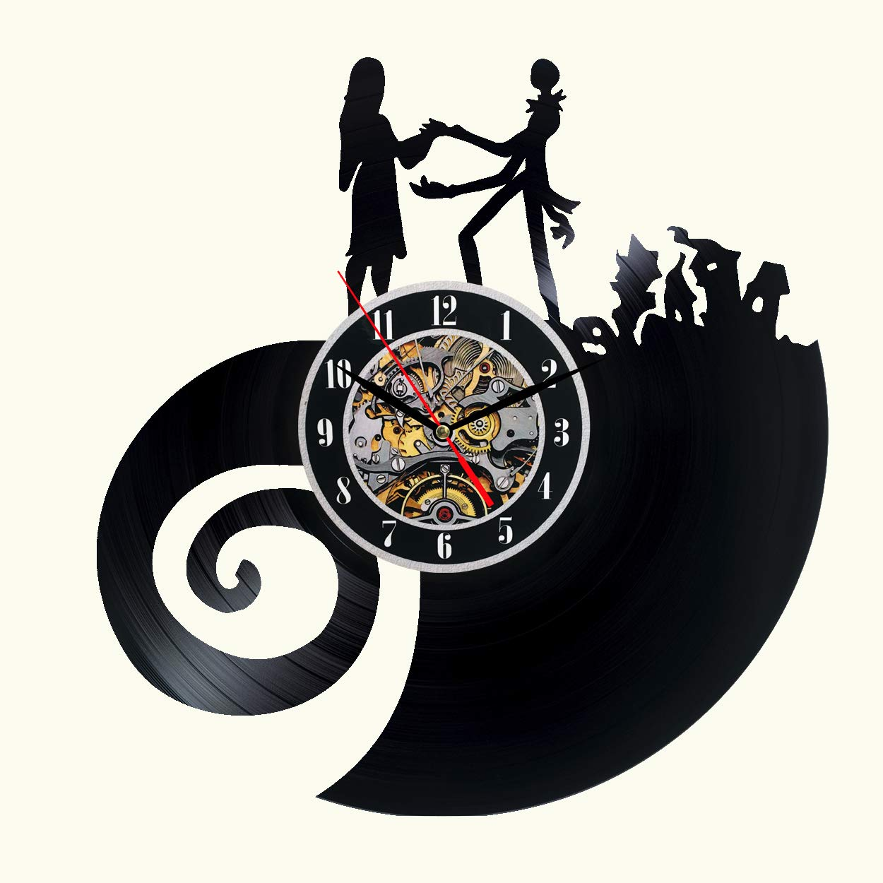 The Nightmare Before Christmas Vinyl Wall Clock 12 in Black Decor ...