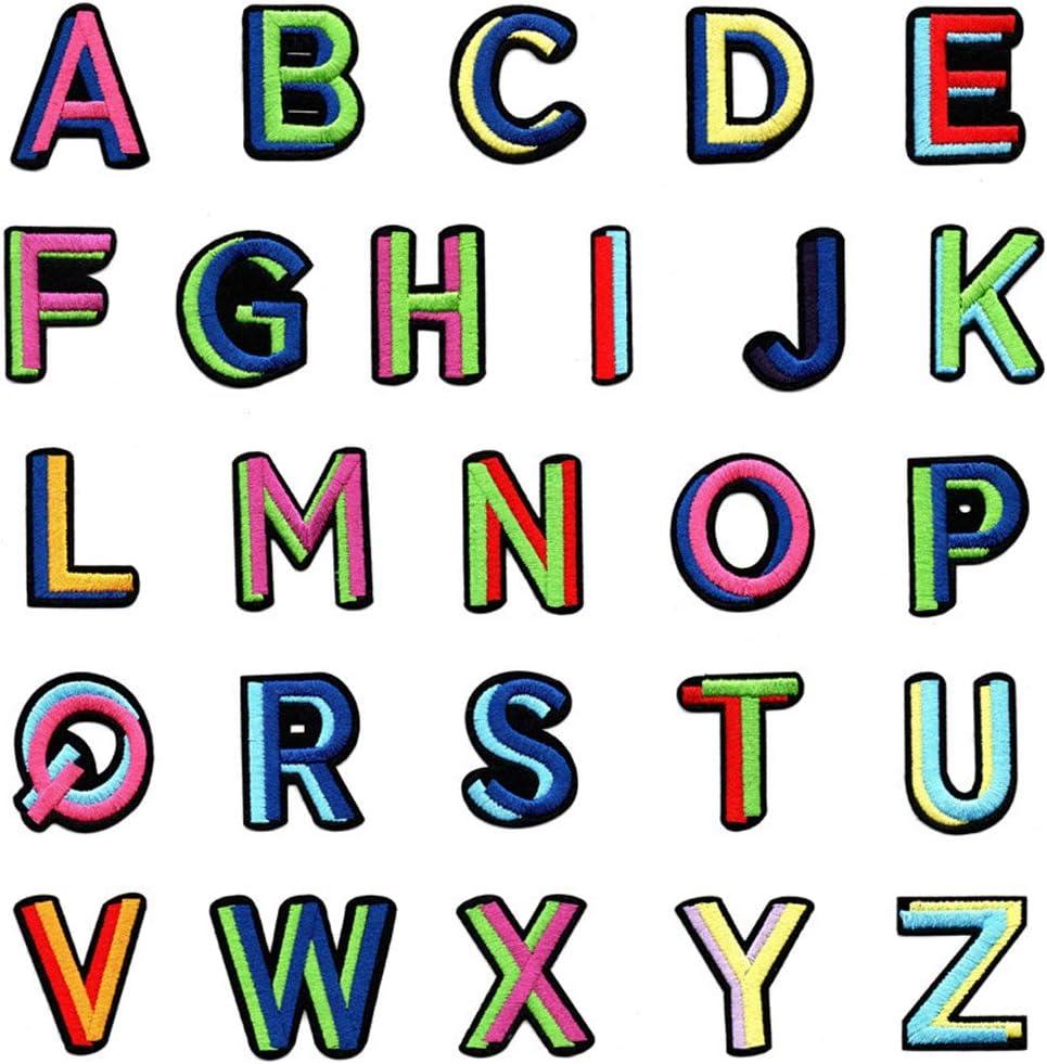 ZOOMY 26Piezas / Set Parches Coloridos de Letras del Alfabeto ...