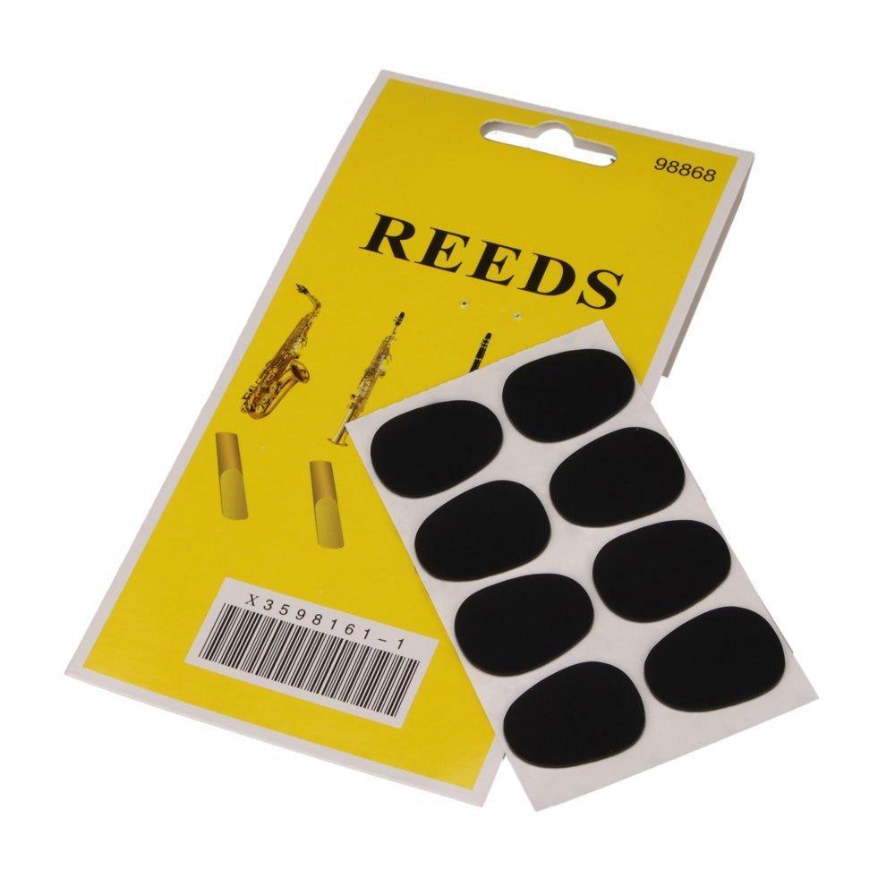 SODIAL(TM) 8pcs Alto Saxophone Mouthpiece Patches Pads Cushions 0.8mm Black