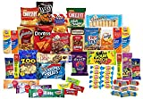 Care Package with 50 Sweet & Salty Snacks, Variety Snack Box for Military Appreciation, Gift Basket of Snack Foods for College Students, (3 Lbs)
