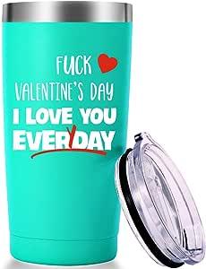 Valentine's Day I Love You Everyday Mug. for Men,Women,Husband,Wife,Fiance,Fiancée,Boyfriend,Girlfriend Tumbler(20oz Mint Green)